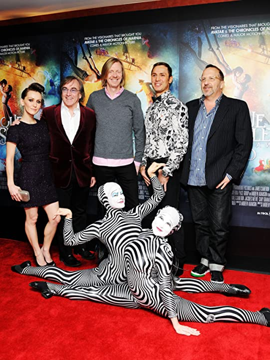 Andrew Adamson, Aron Warner, Daniel Lamarre, Erica Linz, and Igor Zaripov at an event for Cirque du Soleil: Worlds Away (2012)