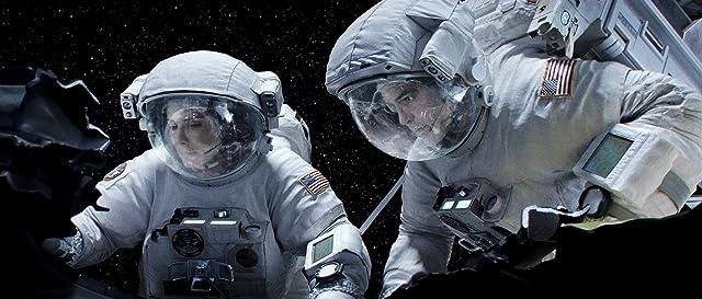 Sandra Bullock and George Clooney in Gravity (2013)