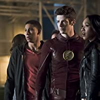 Grant Gustin, Candice Patton, and Keiynan Lonsdale in The Flash (2014)