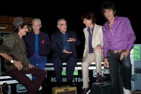 Martin Scorsese, Mick Jagger, Keith Richards, Charlie Watts, and Ronnie Wood in Shine a Light (2008)