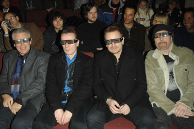 Bono, Adam Clayton, Larry Mullen Jr., and The Edge at U2 3D (2007)