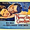 Rock Hudson and Cornell Borchers in Never Say Goodbye (1956)