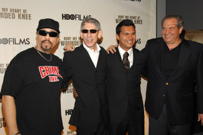 Ice-T, Richard Belzer, Adam Beach, and Dick Wolf at Bury My Heart at Wounded Knee (2007)