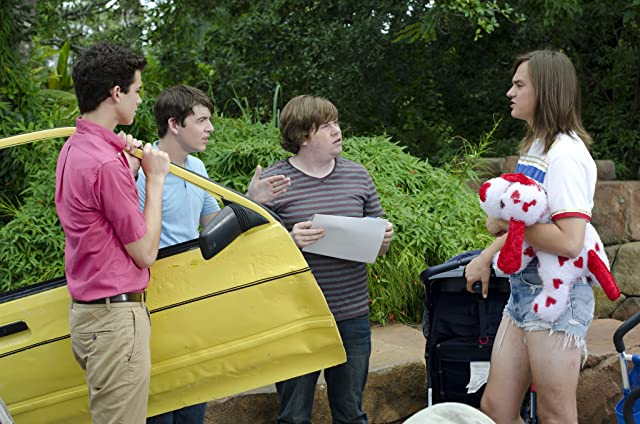 Bubba Lewis, Mark L. Young, Joey Pollari, Zack Pearlman, and Alex Frnka in The Inbetweeners (2012)