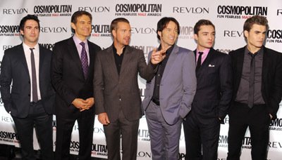 Chris O'Donnell, Stephen Moyer, Josh Schwartz, Paul Wesley, Mehmet Oz, and Ed Westwick