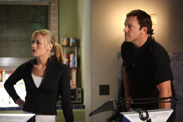 Adam Baldwin and Yvonne Strahovski in Chuck (2007)