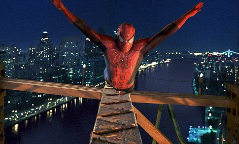 TOBEY MAGUIRE stars in the title role in Columbia Pictures' action adventure SPIDER-MAN.