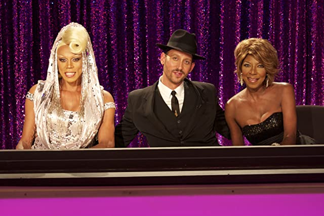 Natalie Cole, RuPaul, and Santino Rice in RuPaul's Drag Race: Glamazons vs. Champions (2012)