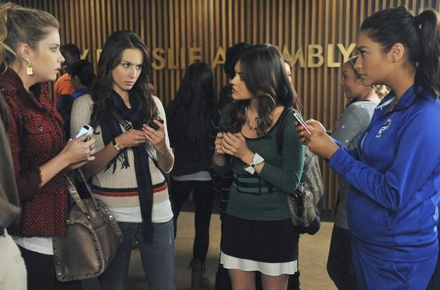 Troian Bellisario, Lucy Hale, Ashley Benson, and Shay Mitchell in Pretty Little Liars (2010)