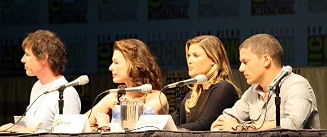 Milla Jovovich, Ali Larter, Paul W.S. Anderson, and Wentworth Miller at an event for Resident Evil: Afterlife (2010)