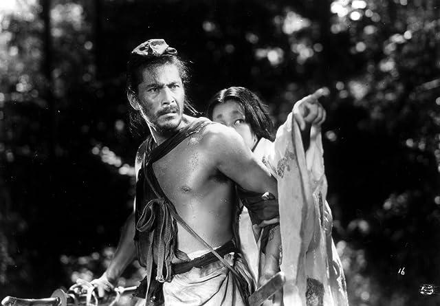 Toshirô Mifune and Machiko Kyô in Rashomon (1950)