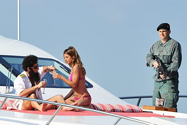 Sacha Baron Cohen and Elisabetta Canalis at The Dictator (2012)