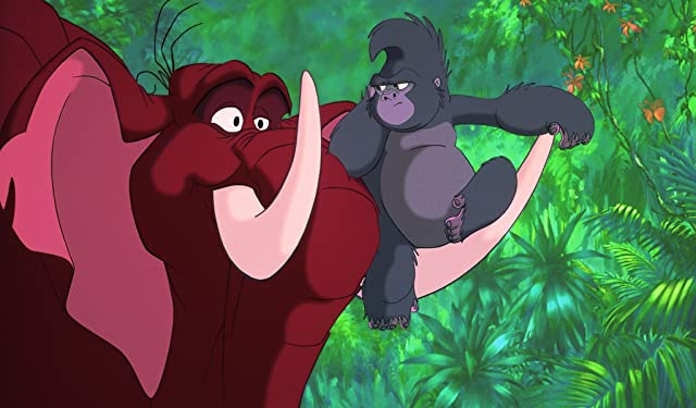 Wayne Knight and Rosie O'Donnell in Tarzan (1999)