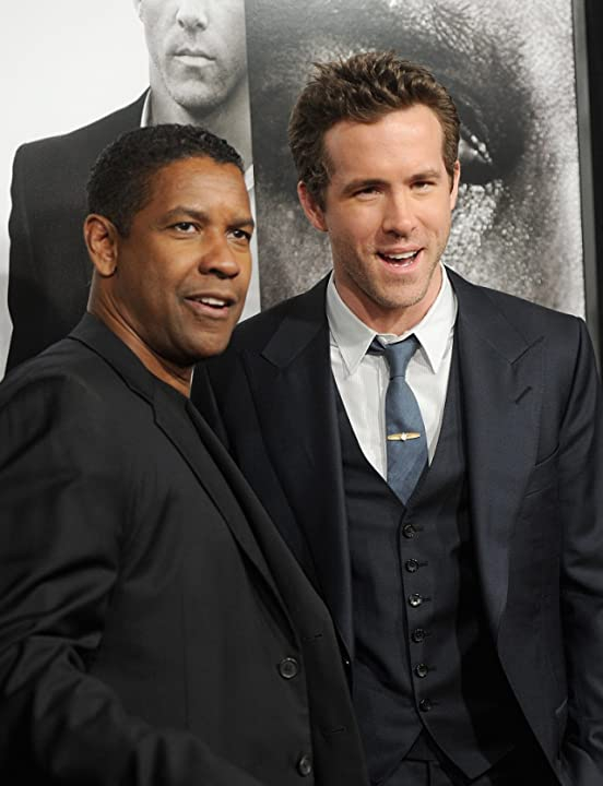 Denzel Washington and Ryan Reynolds at an event for Safe House (2012)