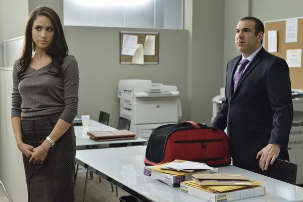 Rick Hoffman and Meghan Markle in Suits (2011)