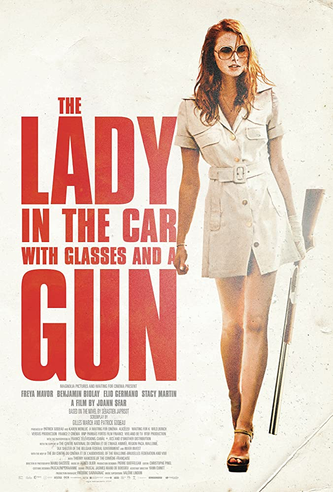 Mergina automobilyje, su akiniais ir šautuvu / The Lady in the Car with Glasses and a Gun (2015)