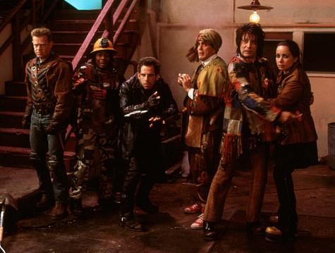 Hank Azaria, Janeane Garofalo, William H. Macy, Paul Reubens, Ben Stiller, and Kel Mitchell in Mystery Men (1999)