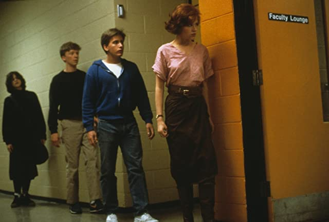 Molly Ringwald, Emilio Estevez, Ally Sheedy, and Anthony Michael Hall in The Breakfast Club (1985)