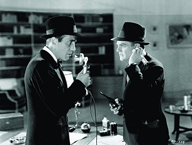 Humphrey Bogart and James Cagney in Angels with Dirty Faces (1938)