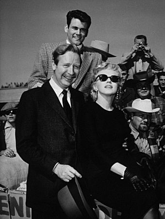 M. Monroe, with Arthur O'Connell & Don Murray