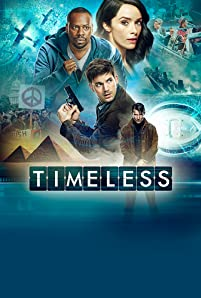 Malcolm Barrett, Abigail Spencer, Goran Visnjic, and Matt Lanter in Timeless (2016)