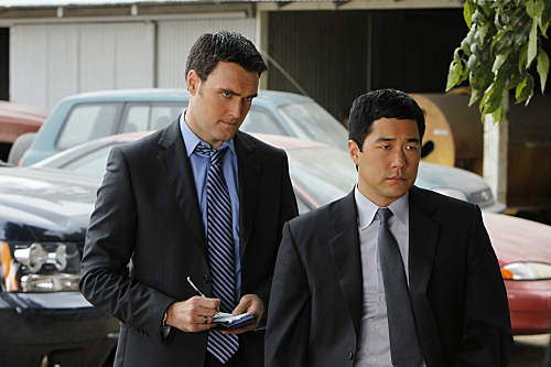 Tim Kang and Owain Yeoman in The Mentalist (2008)