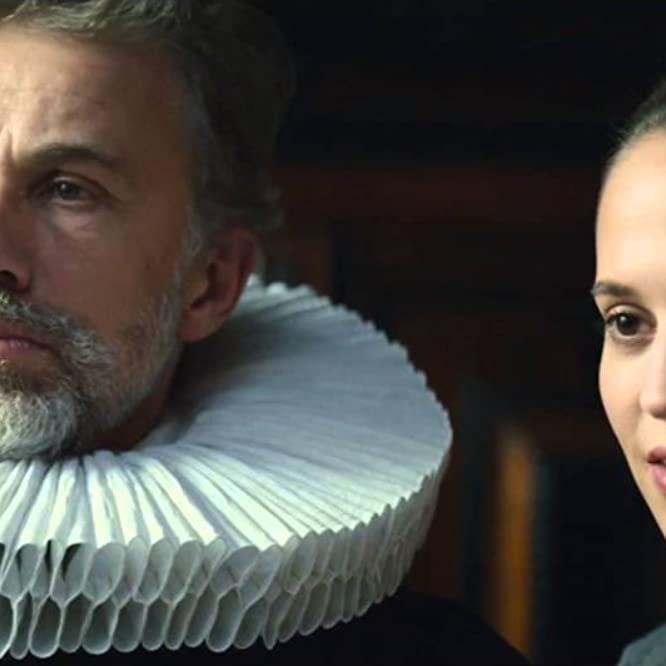 Christoph Waltz and Alicia Vikander in Tulip Fever (2017)