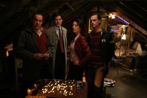 Mandy Patinkin, Thomas Gibson, Lola Glaudini, and Matthew Gray Gubler in Criminal Minds (2005)