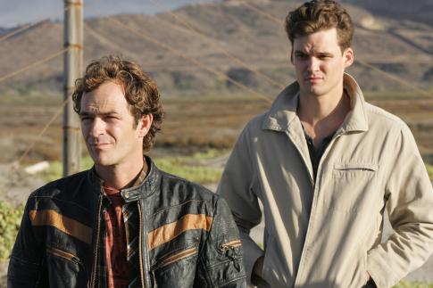Luke Perry and Austin Nichols in John from Cincinnati (2007)