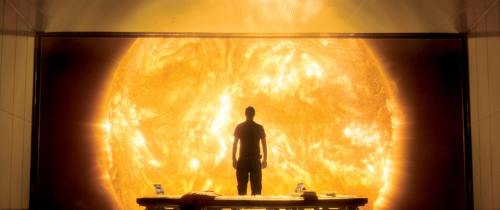 Sunshine (2007). Dr. Searle viewing the sun. Imagery from IMDB.