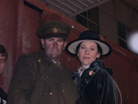 Shauna MacDonald (Dr. Barbara Paxton) and Vincent Walsh, from