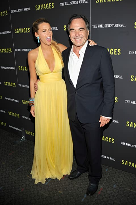 Oliver Stone and Blake Lively at Savages (2012)
