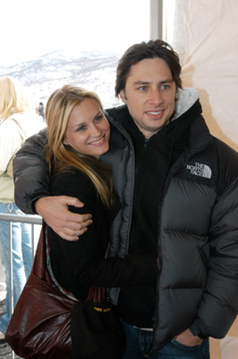 Zach Braff and Bonnie Somerville at an event for Garden State (2004)