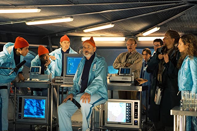 Bill Murray, Cate Blanchett, Bud Cort, Owen Wilson, Robyn Cohen, and Seu Jorge in The Life Aquatic with Steve Zissou (2004)