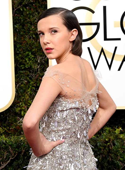 Millie Bobby Brown at an event for The 74th Golden Globe Awards (2017)
