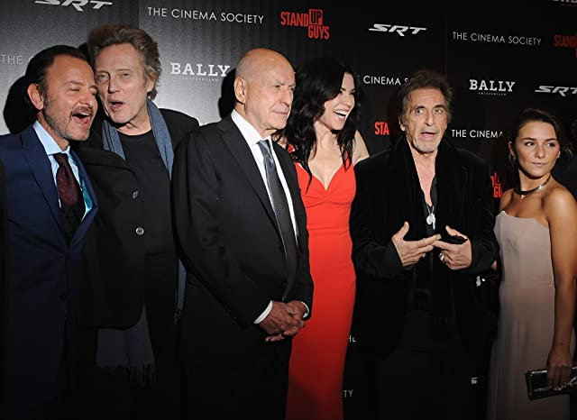Al Pacino, Alan Arkin, Julianna Margulies, Christopher Walken, Fisher Stevens, and Addison Timlin at Stand Up Guys (2012)