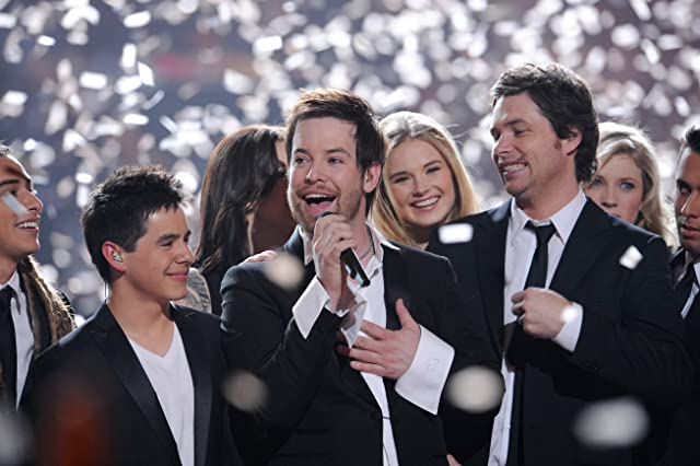 David Cook, David Archuleta, and Michael Johns in American Idol (2002)