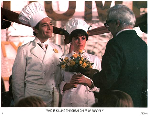 "Image result for Who is Killing The Great Chefs of Europe?"" (1978)"
