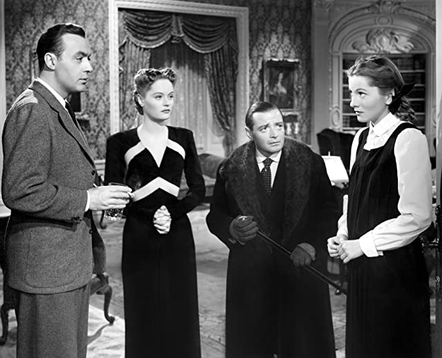 Joan Fontaine, Peter Lorre, Charles Boyer, and Alexis Smith in The Constant Nymph (1943)