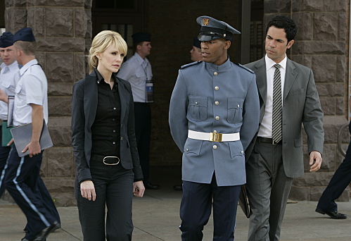 Kathryn Morris, Danny Pino, and Dennis Hill in Cold Case (2003)