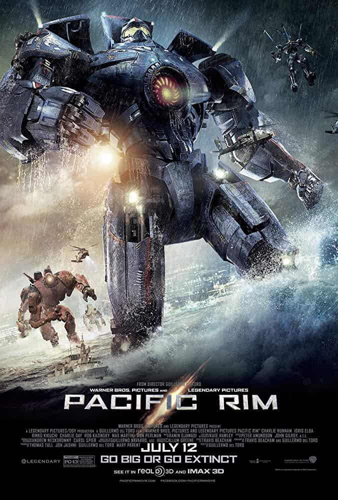 Poster Pacific Rim 2013 Full Movie Free Download Dual Audio in Hindi 720p