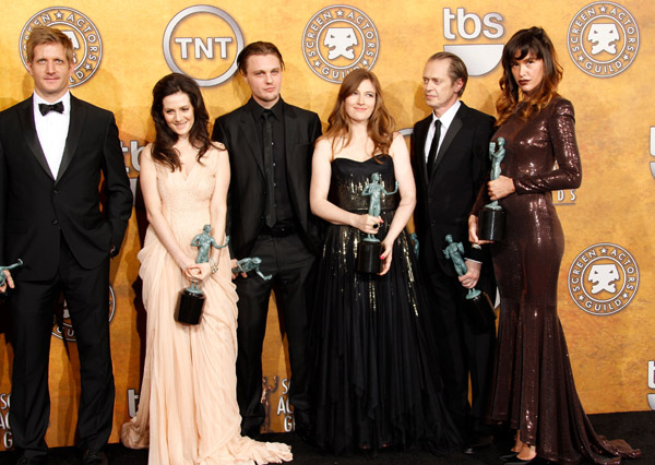 The cast of Boardwalk Empire at the SAG Awards press room