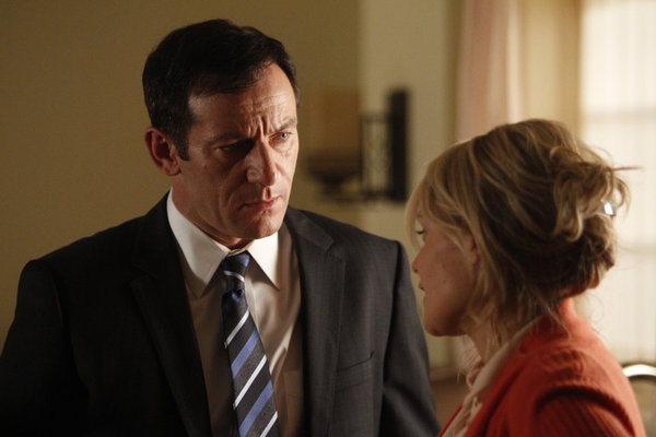 Jason Isaacs and Laura Allen in Awake (2012)