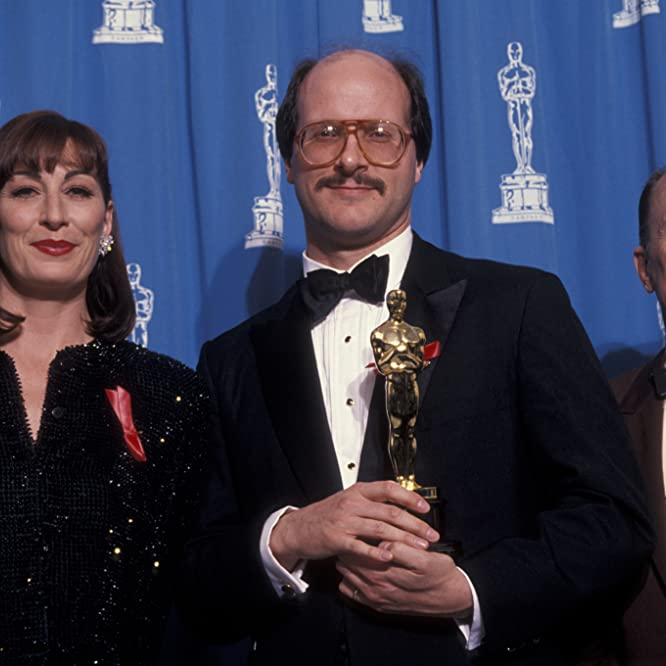 Robert Duvall, Anjelica Huston, and Ted Tally at an event for The Silence of the Lambs (1991)