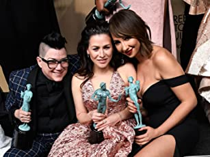 Lea DeLaria, Yael Stone, and Jackie Cruz