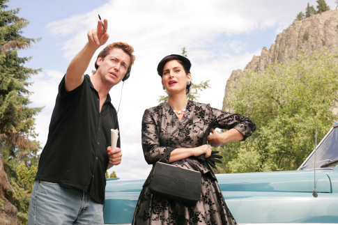 Carrie-Anne Moss and Andrew Currie in Fido (2006)
