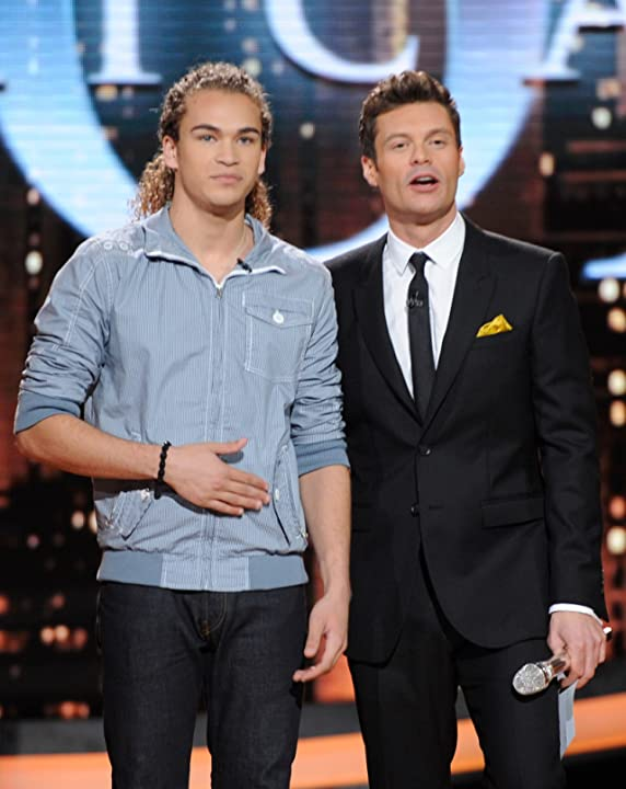 Ryan Seacrest and DeAndre Brackensick at an event for American Idol (2002)