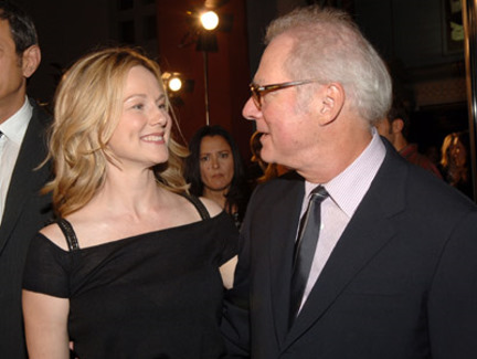 Barry Levinson and Laura Linney at Man of the Year (2006)