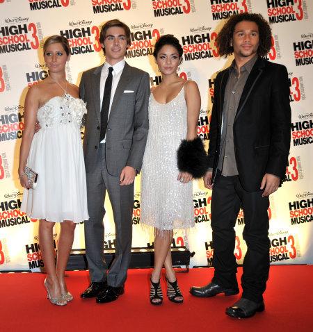 Corbin Bleu, Ashley Tisdale, Vanessa Hudgens, and Zac Efron at High School Musical 3: Senior Year (2008)