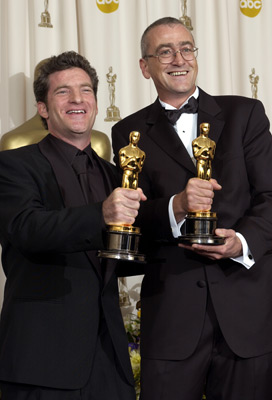 Mike Hopkins and Ethan Van der Ryn at The 75th Annual Academy Awards (2003)